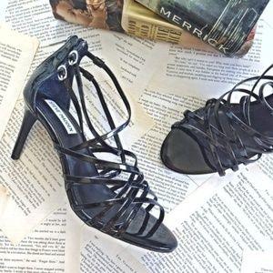 STEVE MADDEN Fairyy Strappy Patent Heels